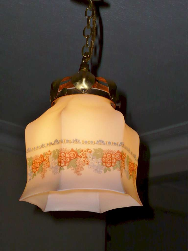 Arts and crafts pendant light