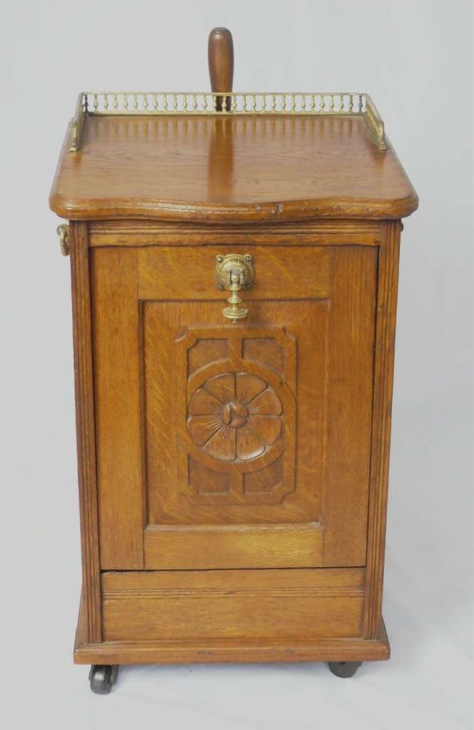 Arts and crafts period purdonium in golden oak