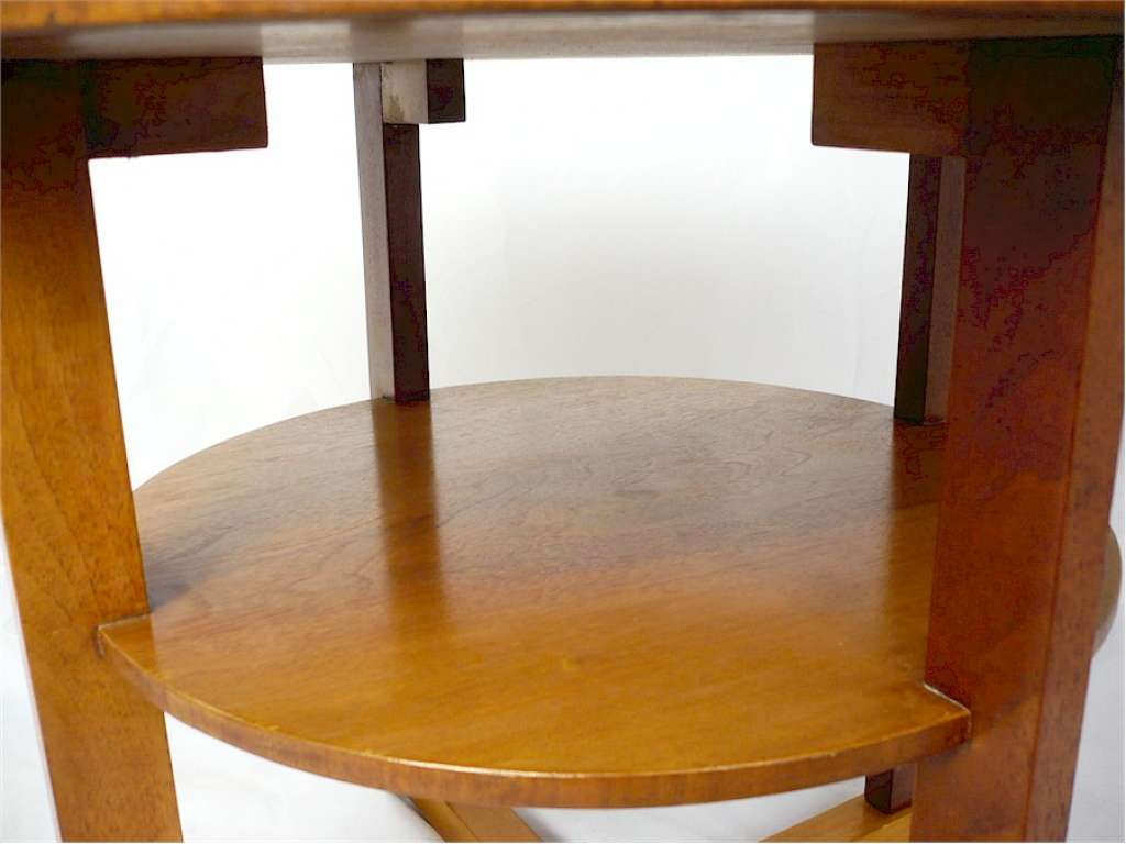 Heals tea table in figured walnut