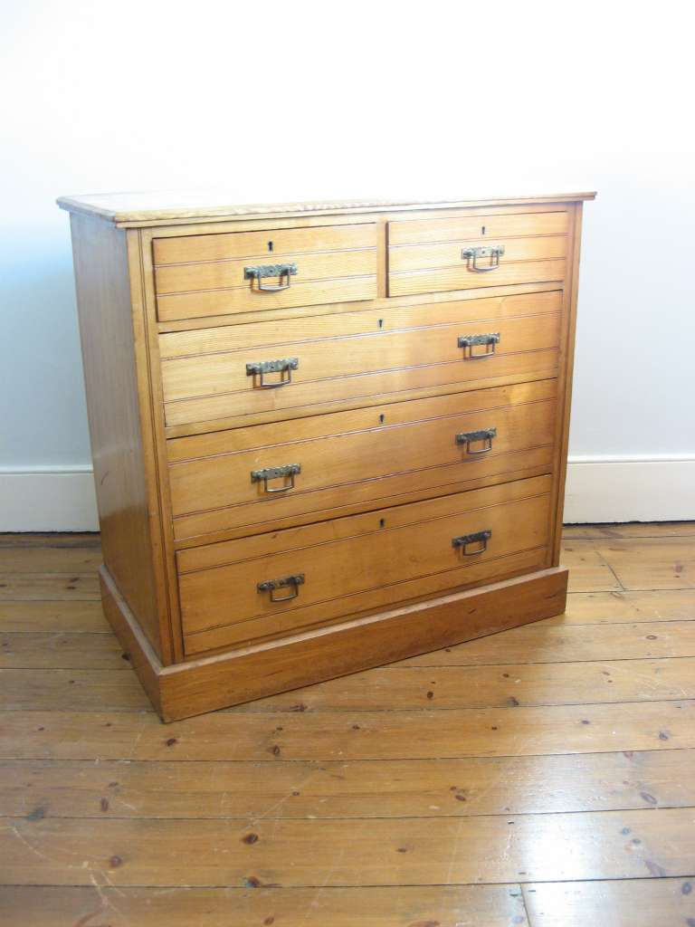 Aesthetic Movement Ash chest of drawers c1890