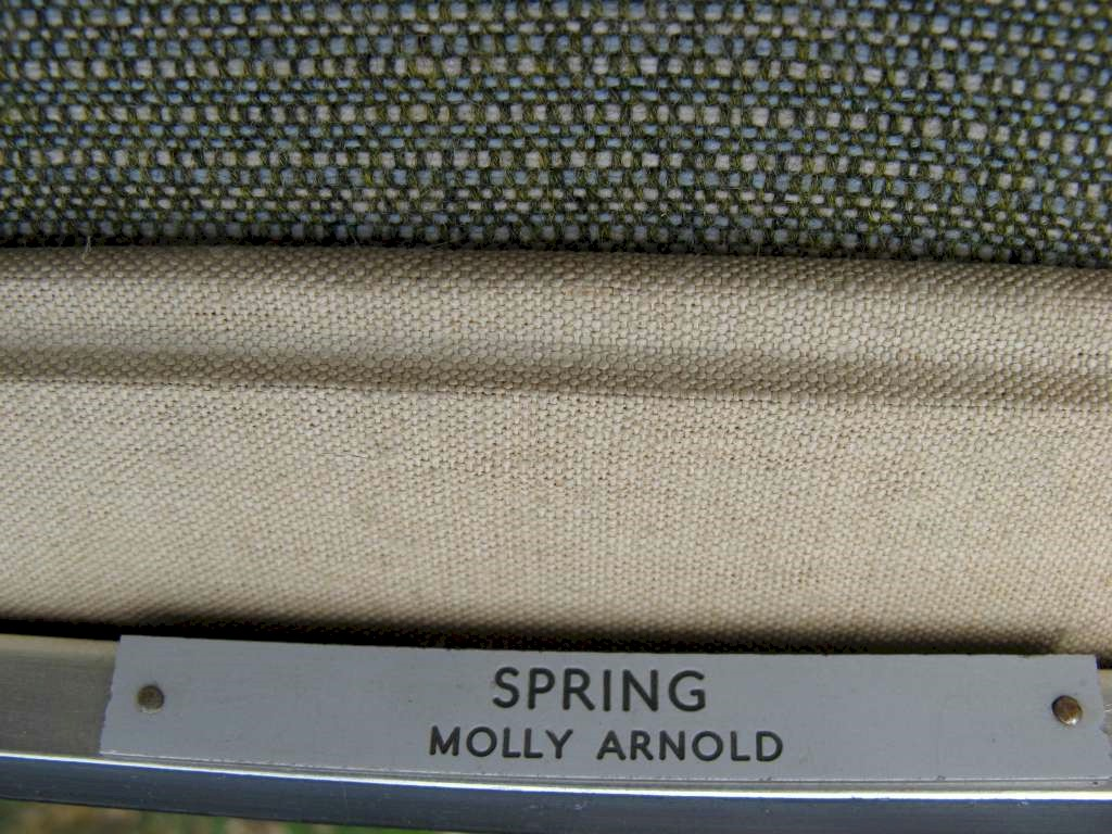 Spring : framed embroidery in various needlepoint by Molly Arnold exhibited c1975