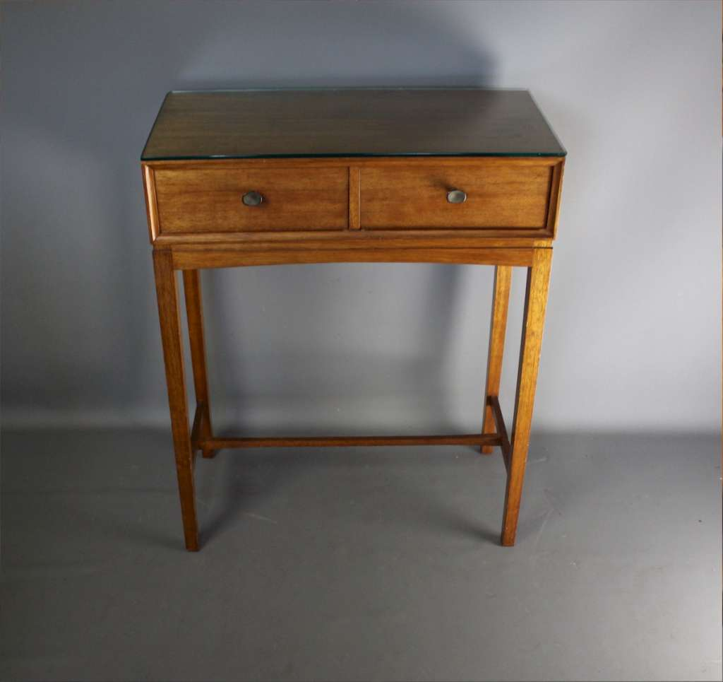 Two drawer hall side table in mahogany