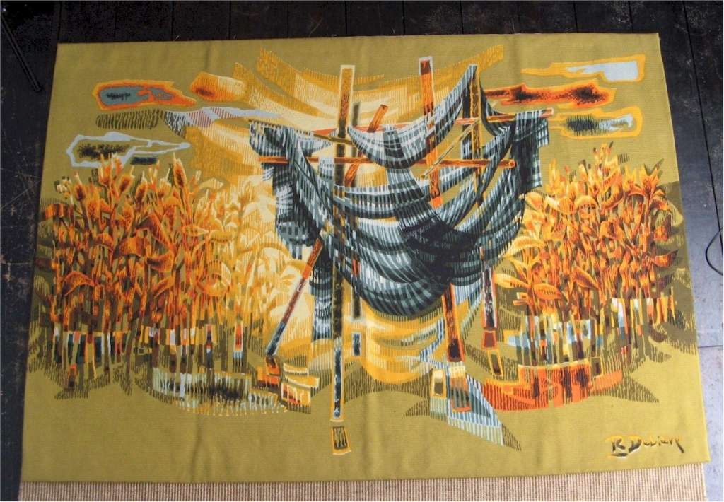 Robert Debieve woven wool (not printed version) tapestry