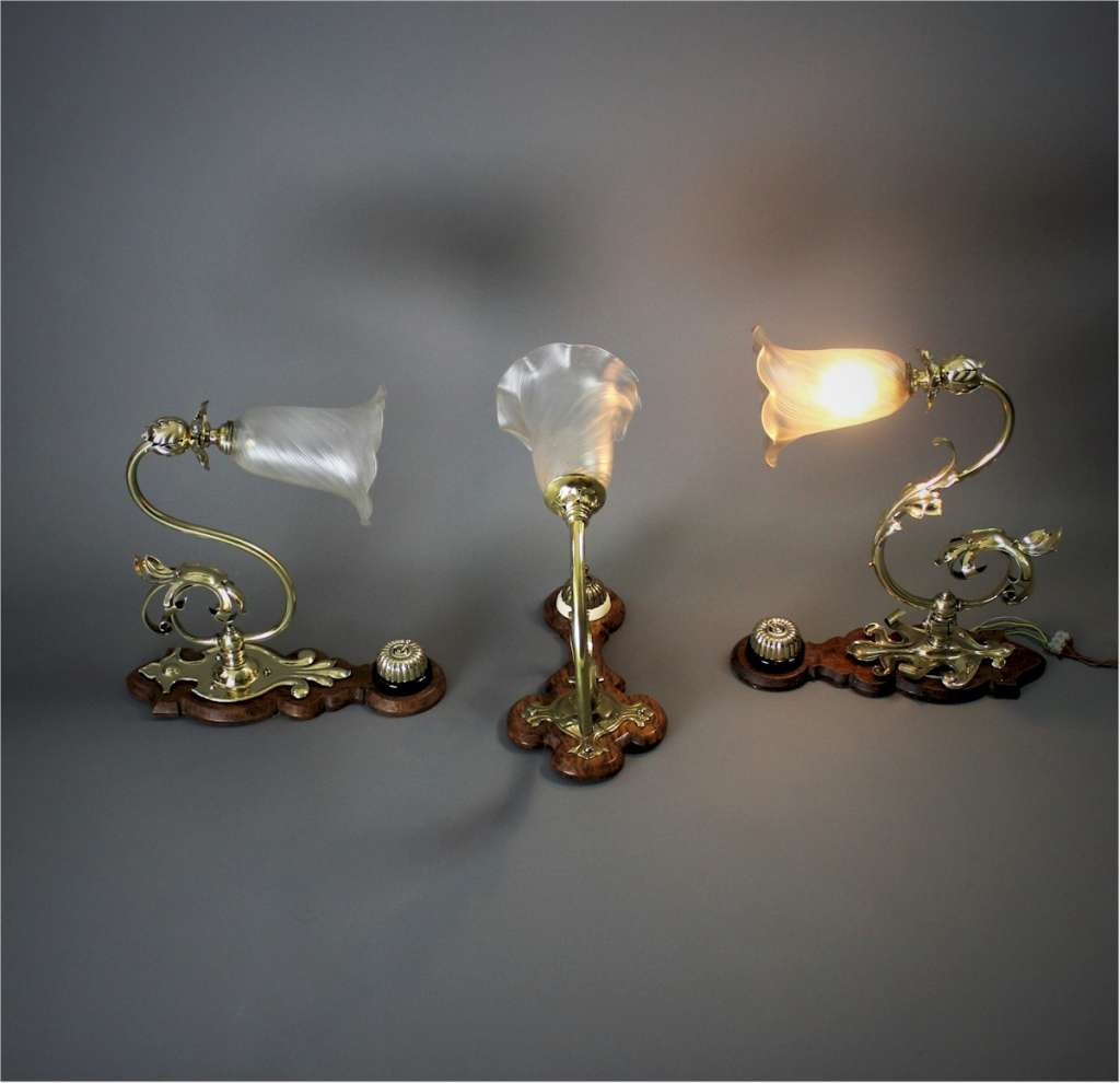 Late Victorian Aesthetic / Gothic wall lights