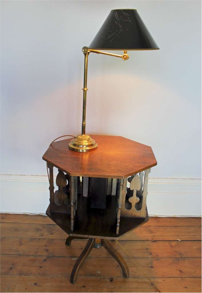 Edwardian adjustable bankers lamp in brass by Dugdill