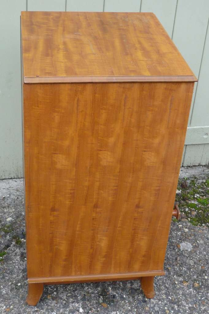Mid century bedside cab in Peroba wood by Heals