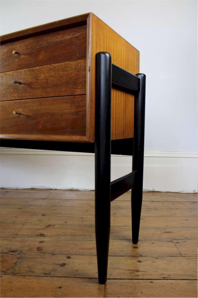 Mid-Century Teak sideboard with interesting ebonised legs
