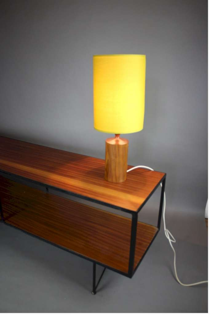 Mid-century rosewood table lamp c1950's