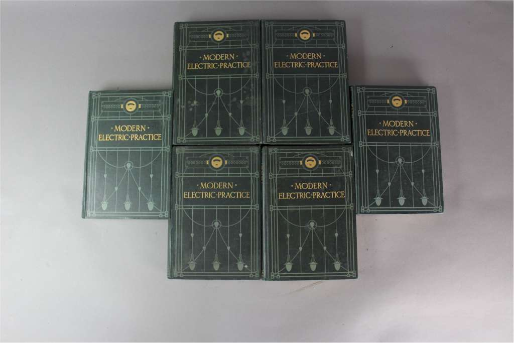 Set of six volumes Modern Electric Practice c1905