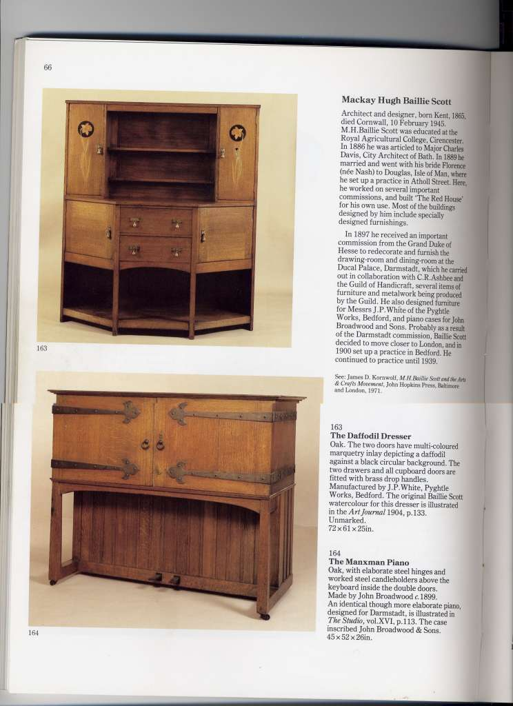 Arts and Crafts Movement oak dresser by M H Baillie-Scott