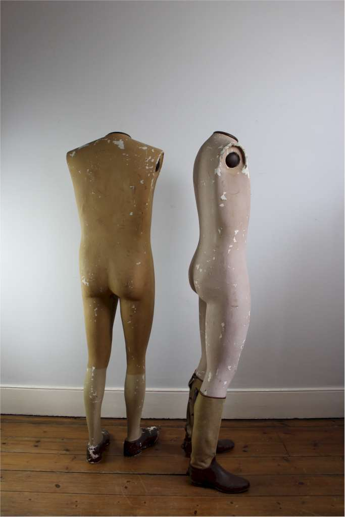 Pair of French 1920's shop mannequin by Siegel