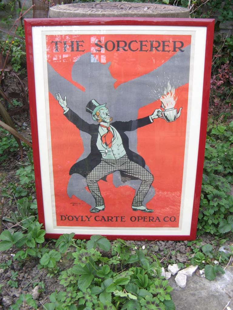 D'oyly Carte opera co framed poster