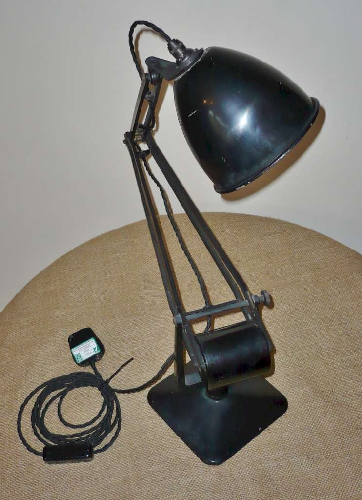 Hadrill and Horstmann anglepoise lamp in black
