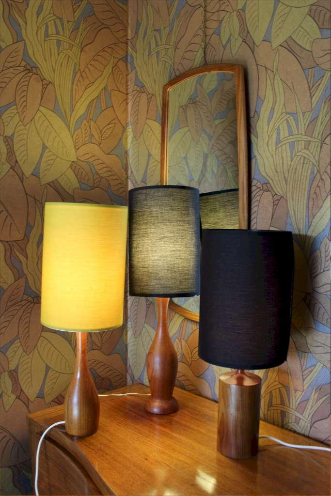 Mid-Century Teak table lamp c1960's