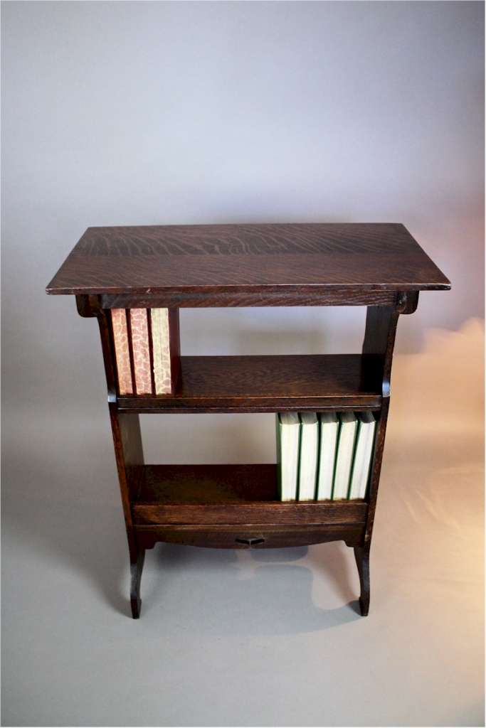 Arts and Crafts side table / bookshelf. c1900