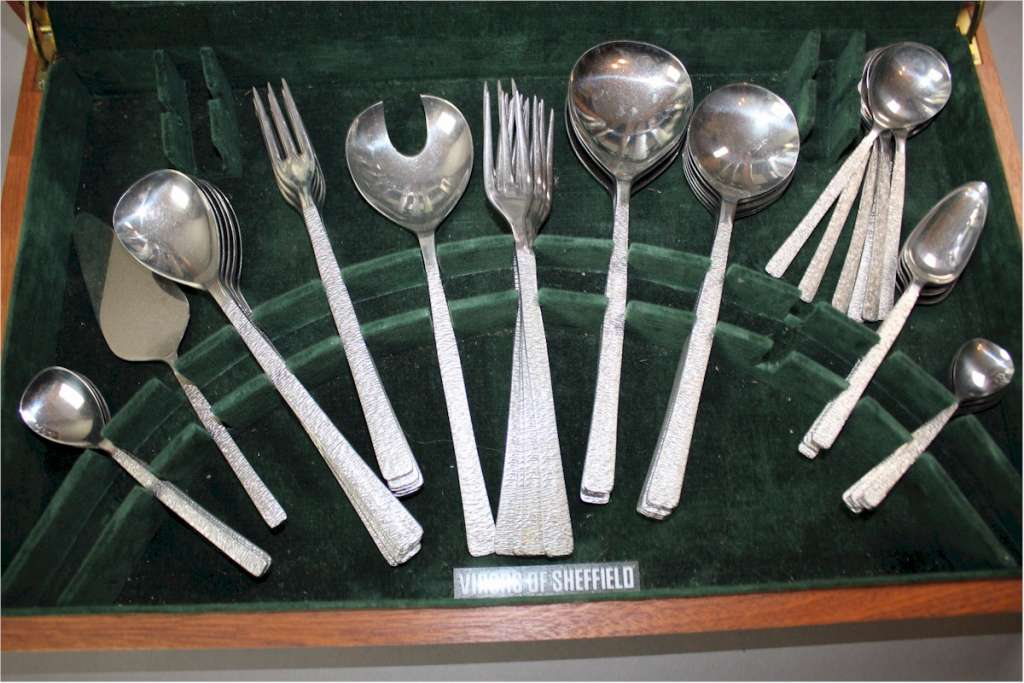 Vintage canteen of cutlery by Viners of Sheffield designed by Gerald Benney
