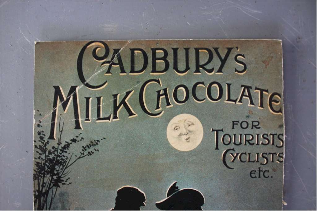 Cadbury's card advert for tourists and cyclists.