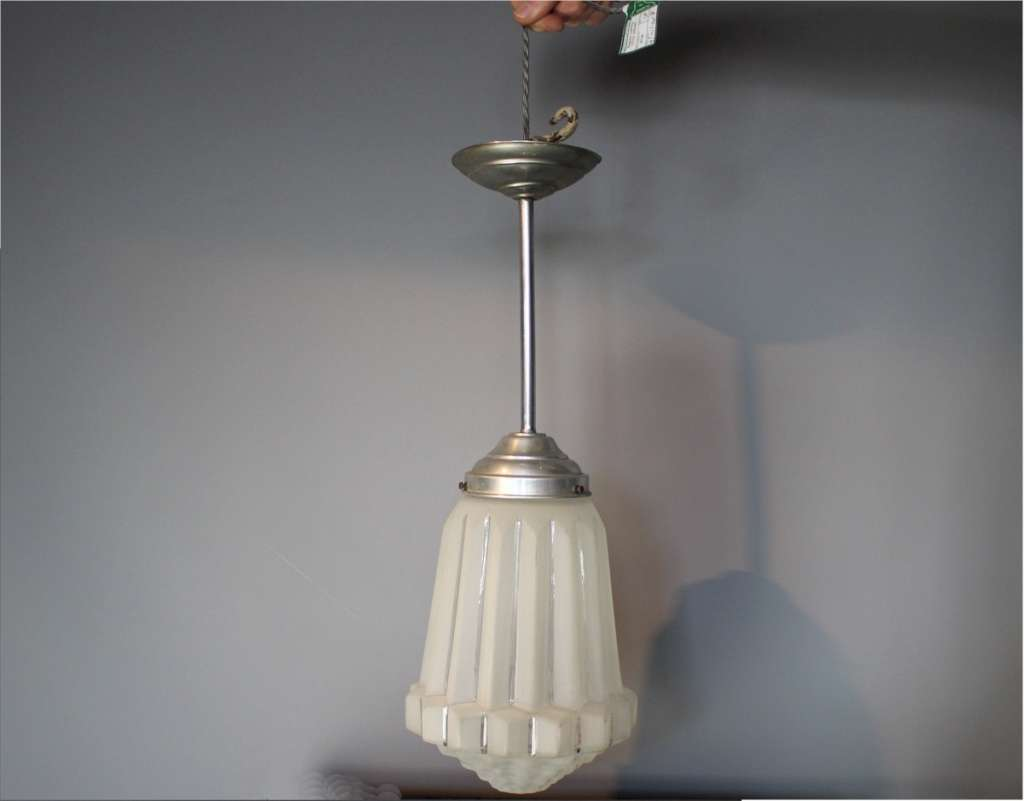 Art Deco frosted ceiling light