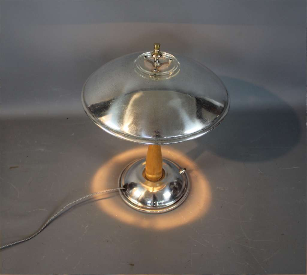 Art Deco French mushroom table lamp