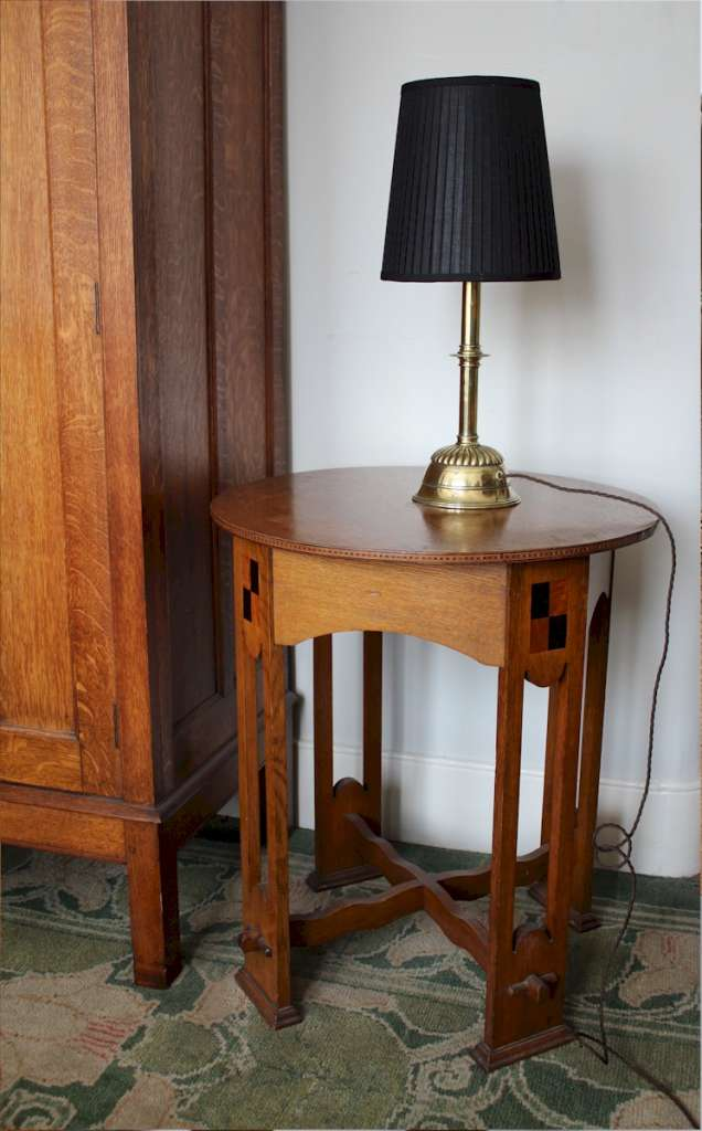 Victorian brass table lamp by Hedges