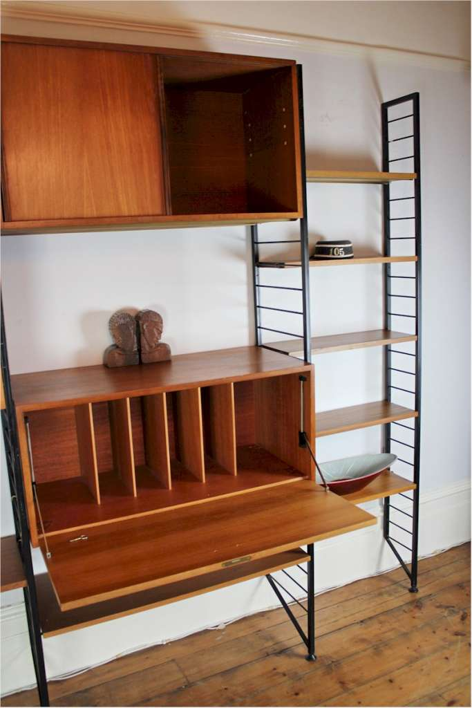Mid-Century Ladderax Shelving system by Staples c1960's