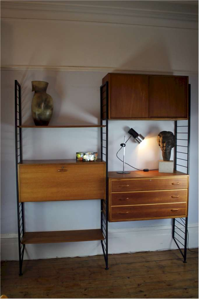 Teak Ladderax shelving system by Staples c1960's
