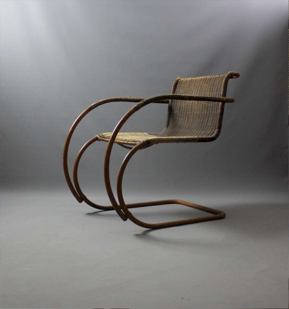 Rare Weissenhof armchair MR20 designed by Ludwig Mies Van Der Rohe