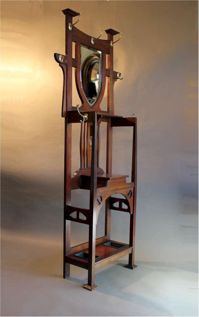 Arts and Crafts hallstand by Shapland and Petter
