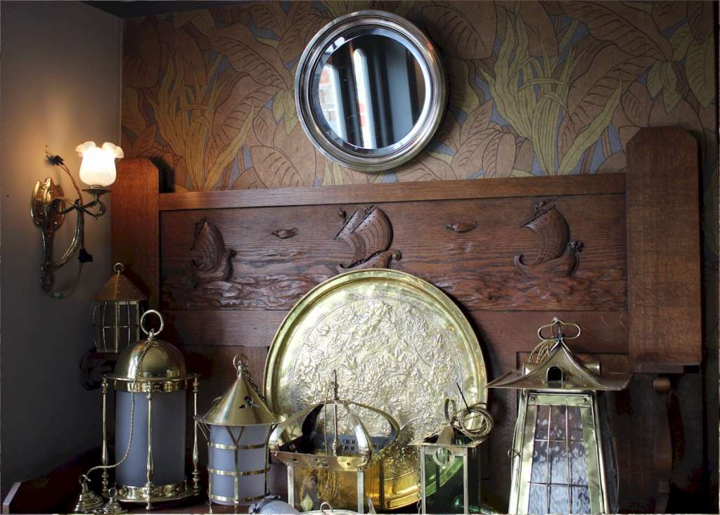 Silver Plated circular wall mirror.