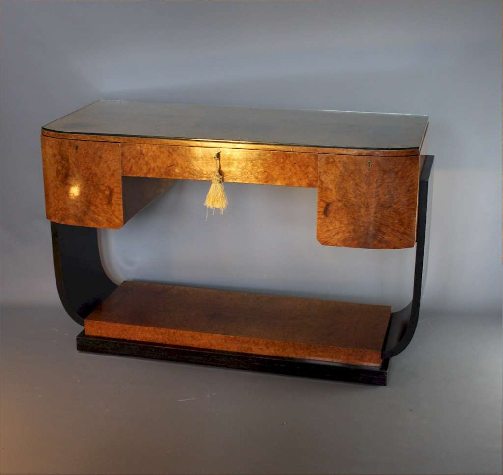 Art Deco U Base console table
