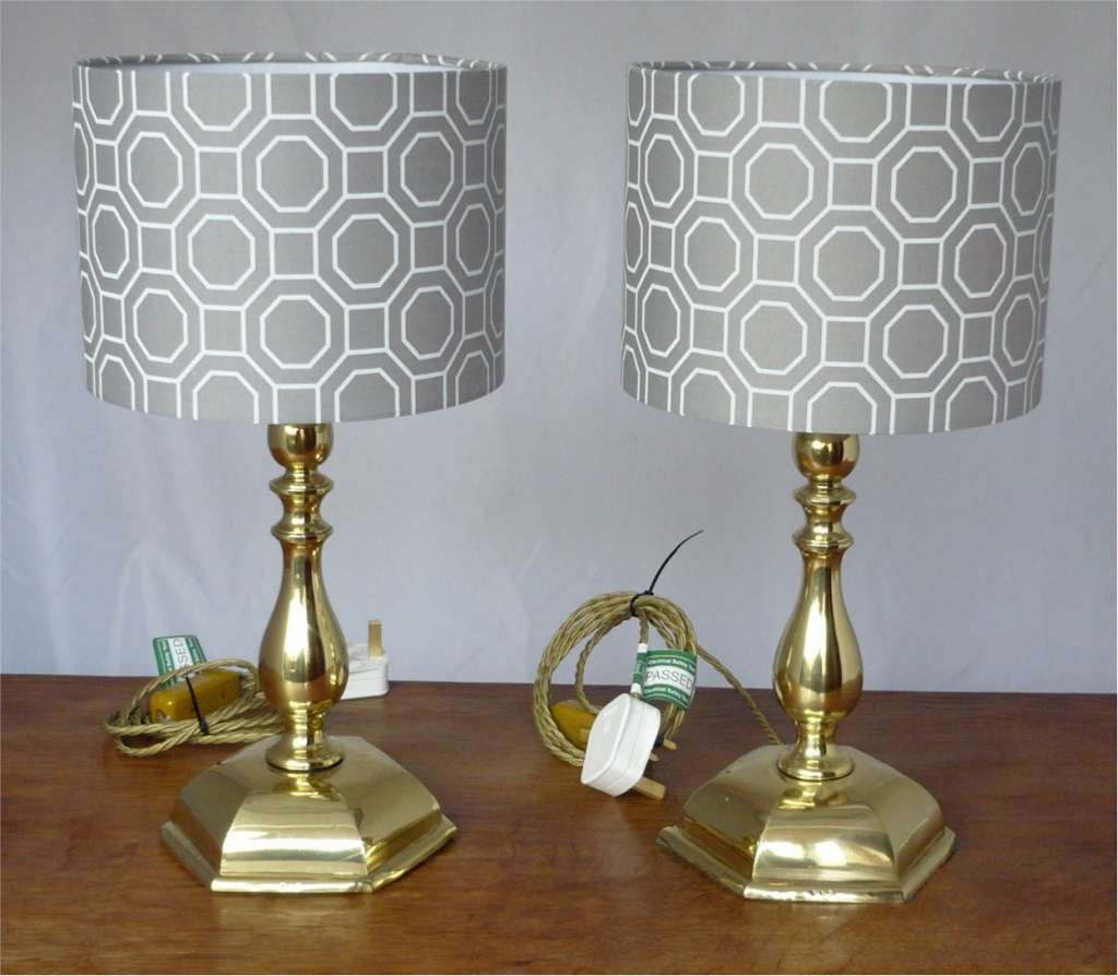 Pair of Faraday & Son brass table lamps
