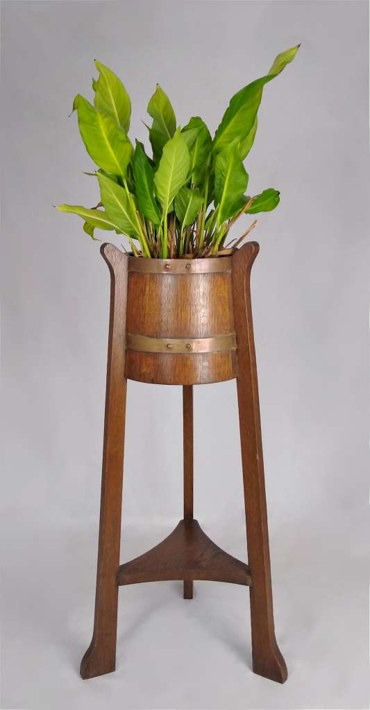 Arts and crafts plantstand by Listers