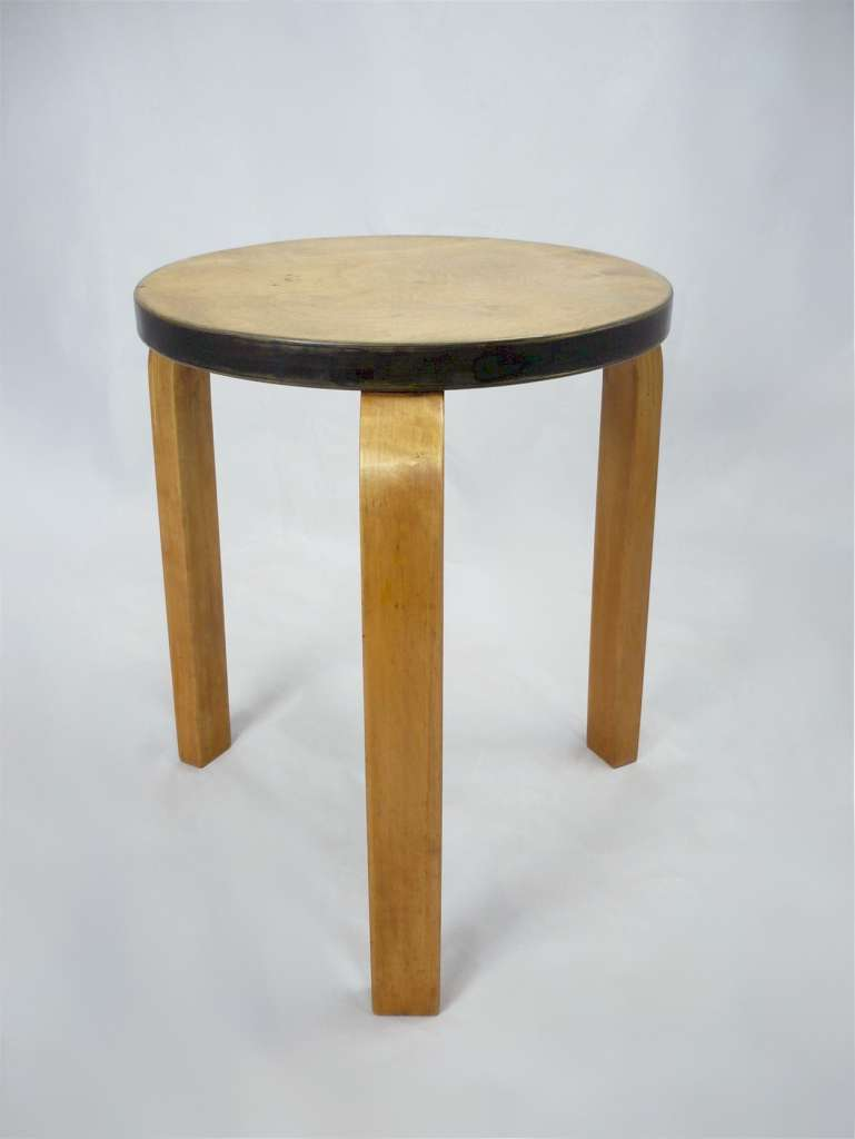 Alvar Aalto stool with Finmar label