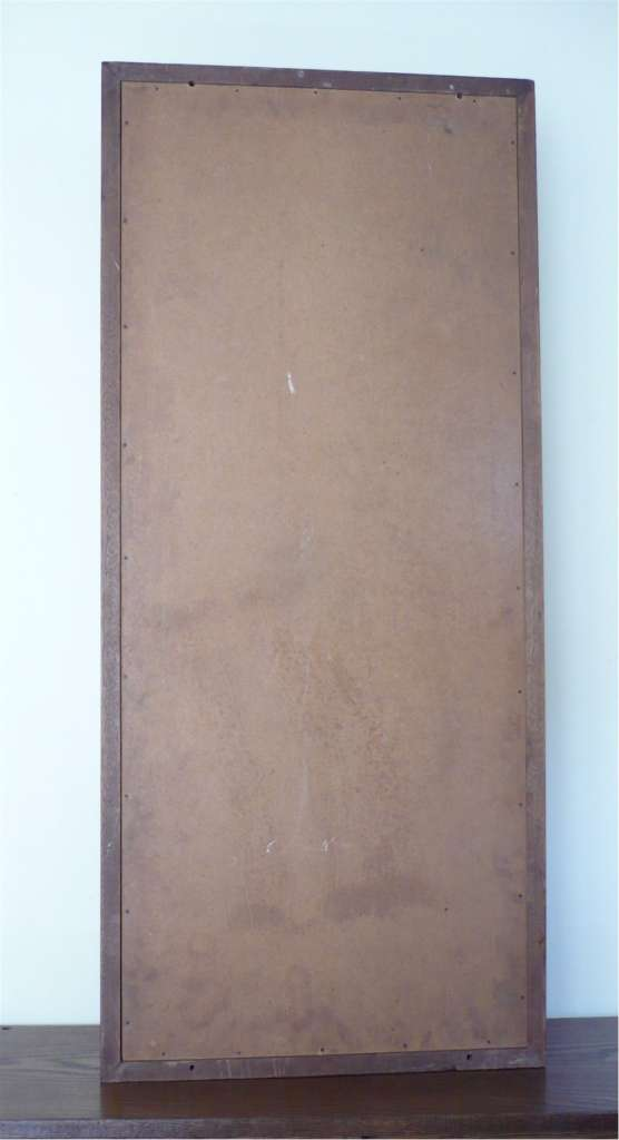 Mahogany notice board with moveable metal letters