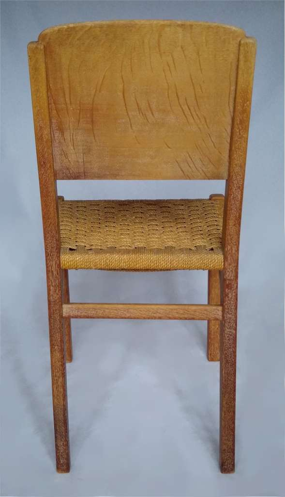 Limed oak bedroom chair