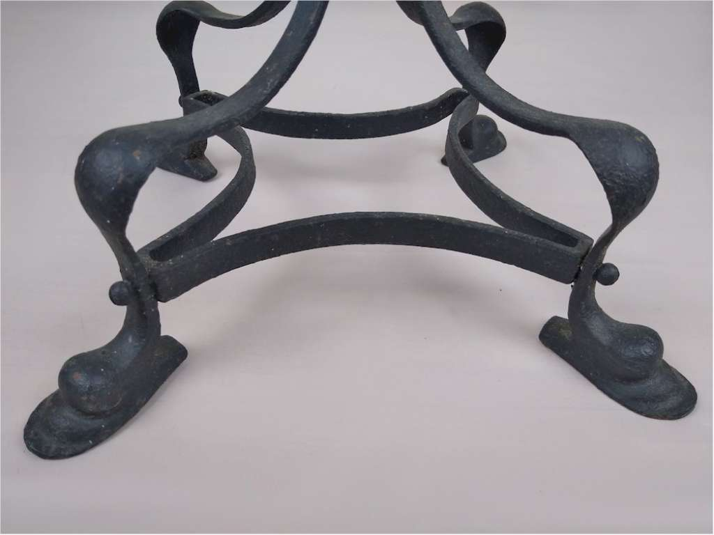 Arts and crafts wrought iron plantstand
