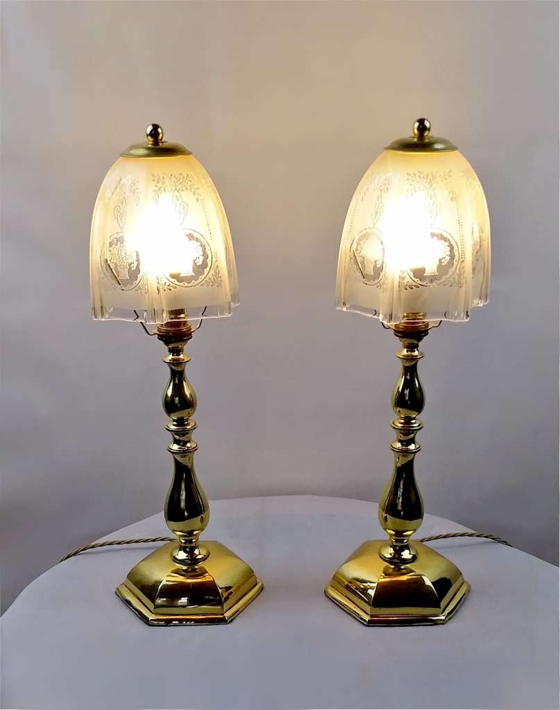 Matching pair of Faraday & Sons table lamps