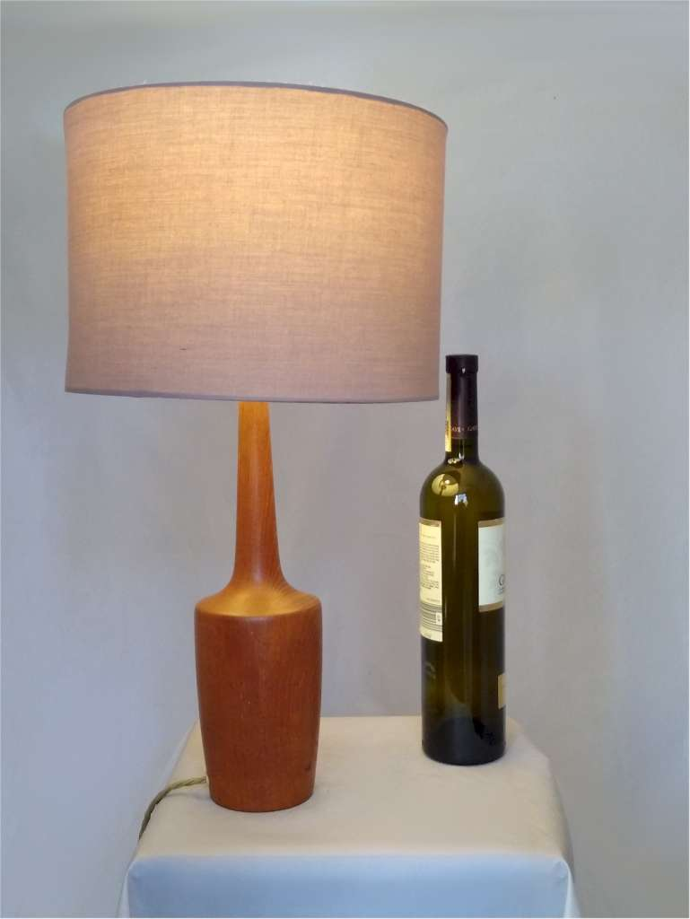 Danish Mid Century Modern table lamp in teak