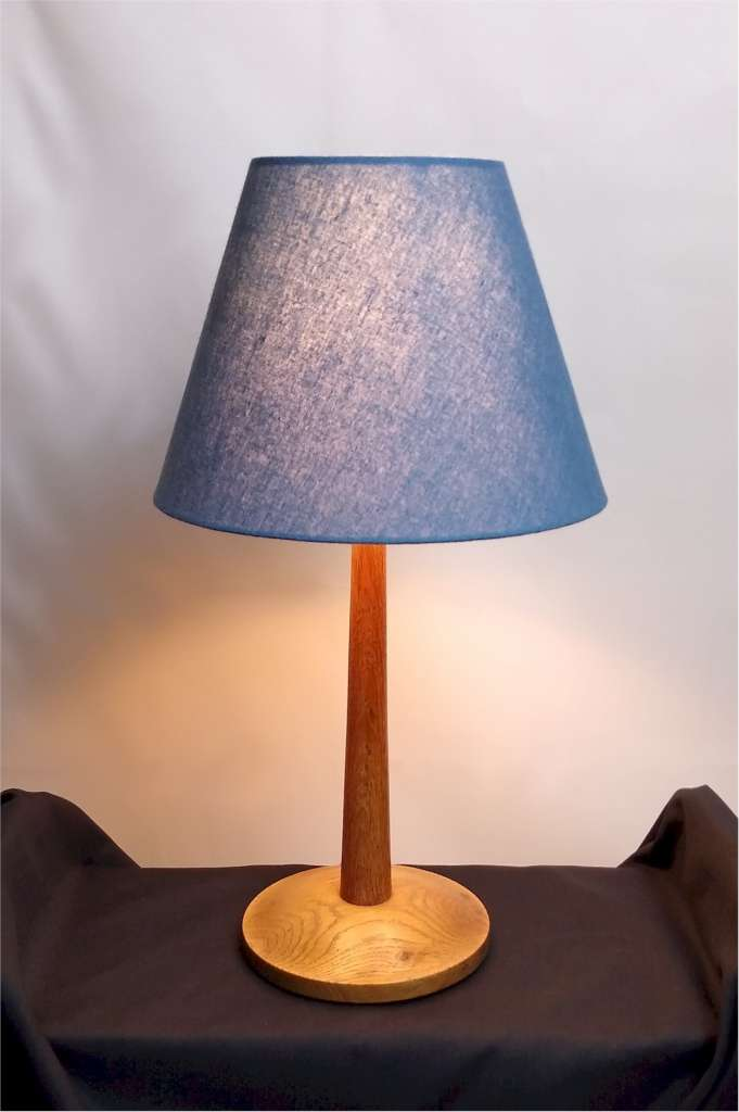 Weathered oak table lamp attb Heals
