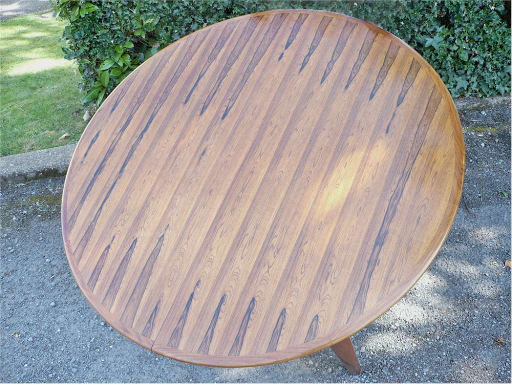 Danish Rosewood Dining Table by Henning Kjaernulf