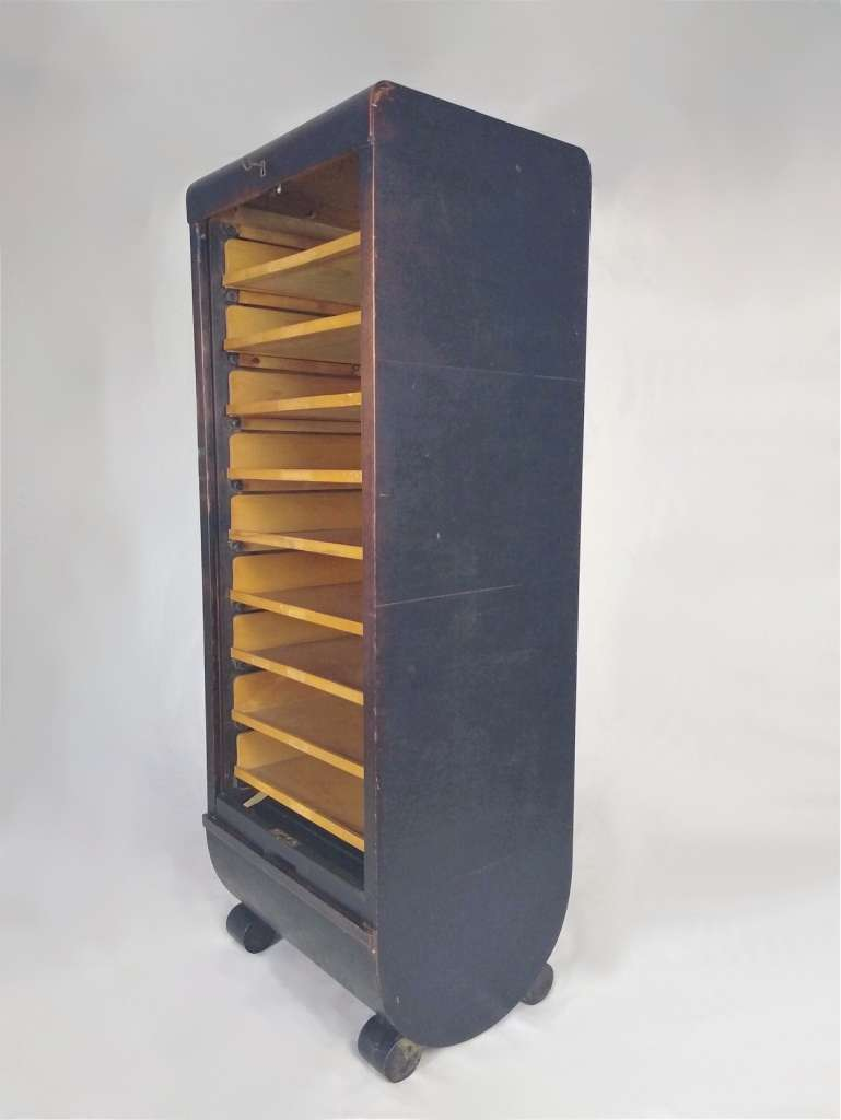 Post War French filing cabinet