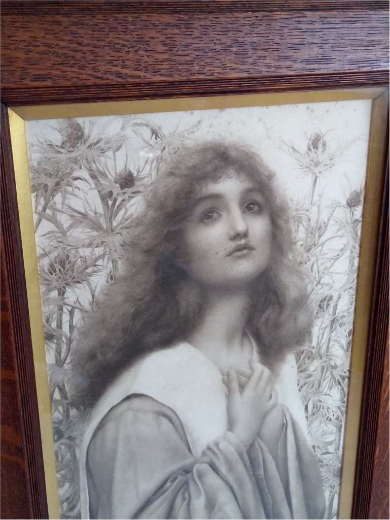 Print by Henry Ryland ' Supplication ' 1898