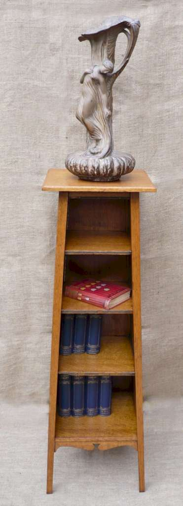 Arts and crafts bookstand in golden oak