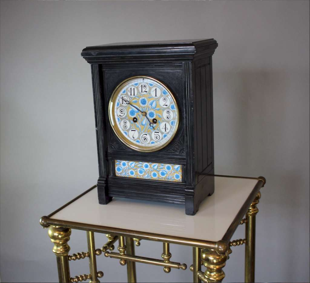 Aesthetic Movement clock Lewis.F.Day c1880