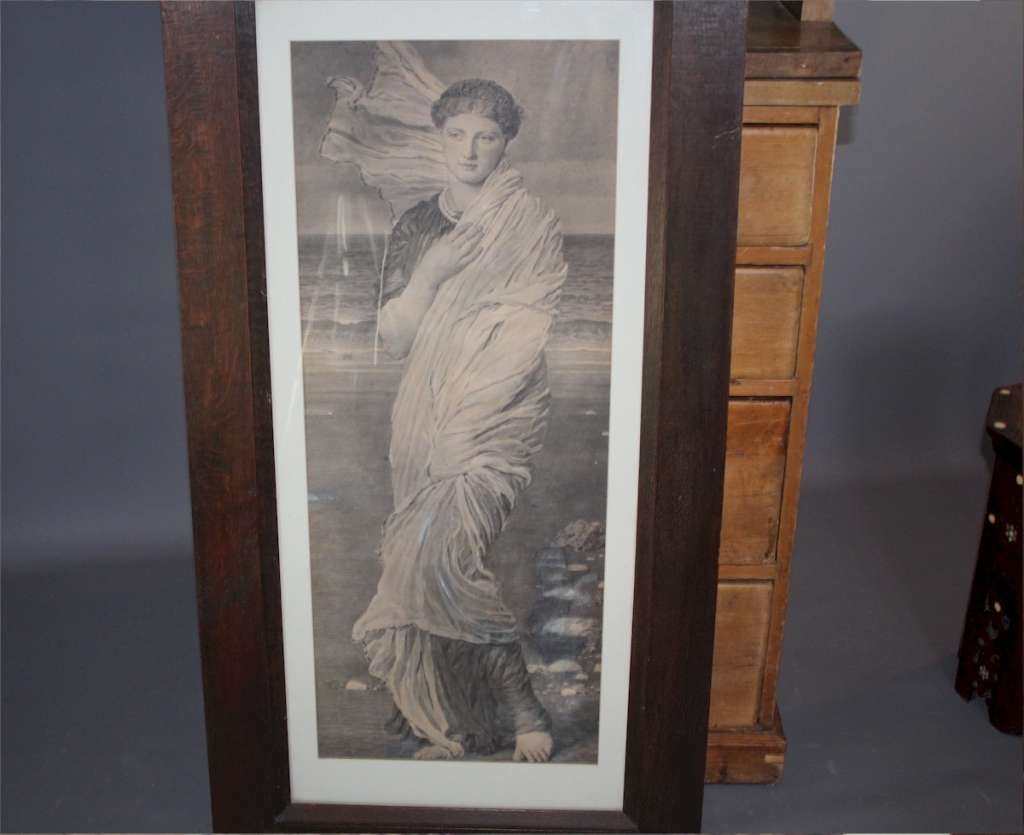 Large Edwardian oak frame with Albert Moore print