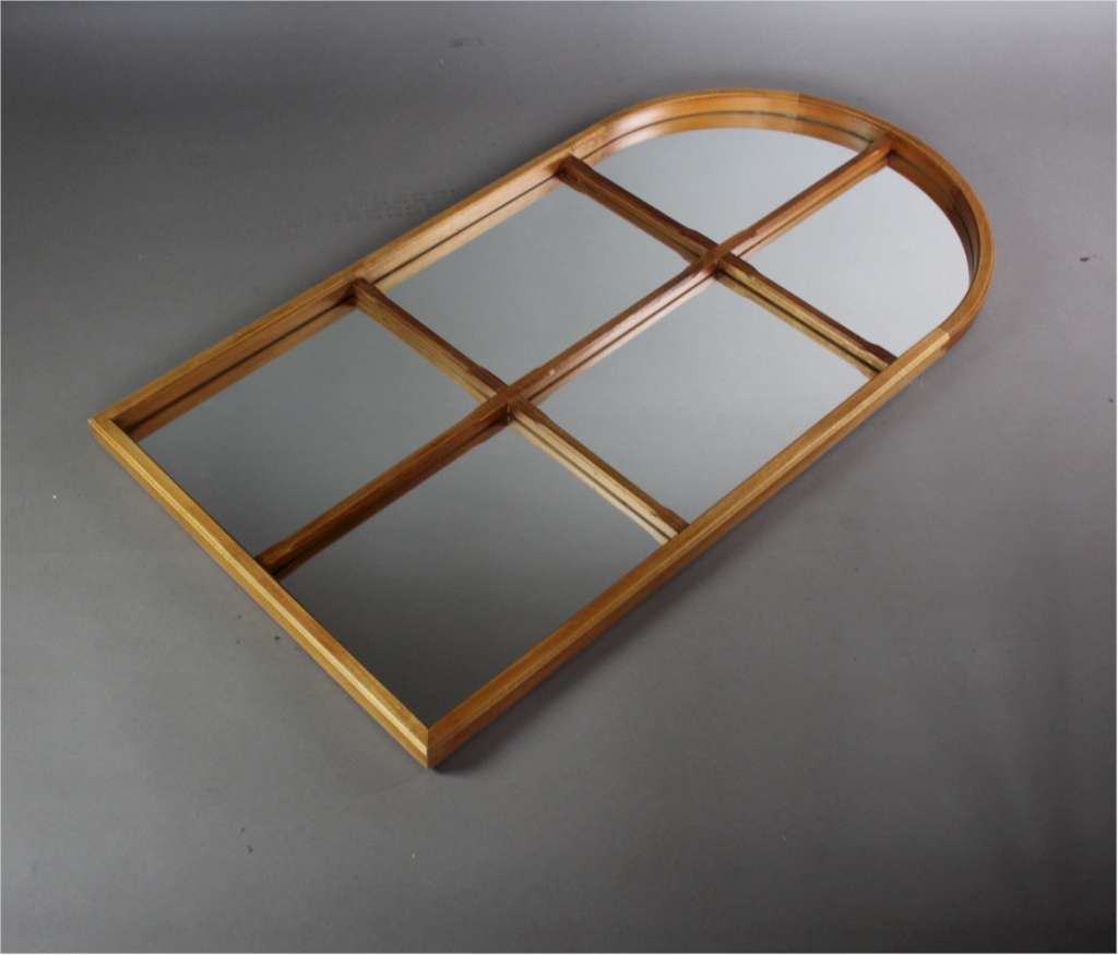 Mid-Century teak sectional mirror with arched top c1960's