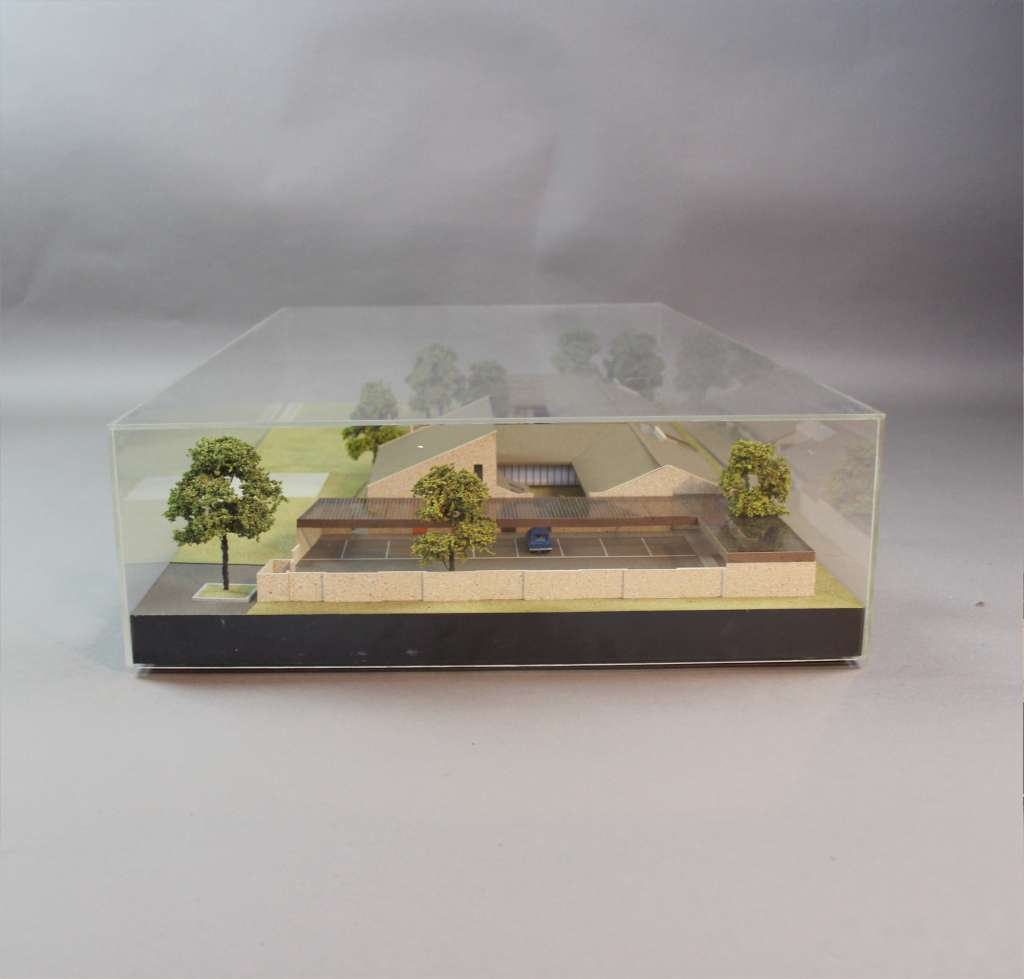 Architects model in Perspex case by C. Wycliffe Noble O.B.E
