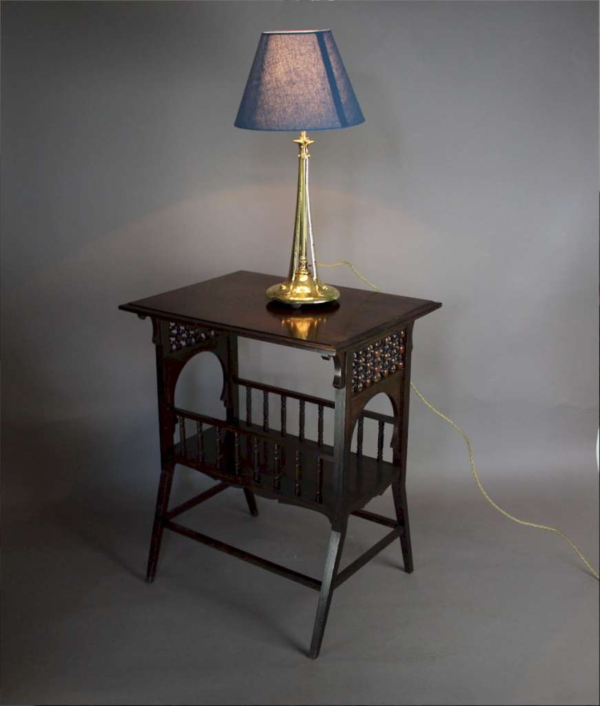 Arts and Crafts brass table lamp c1900