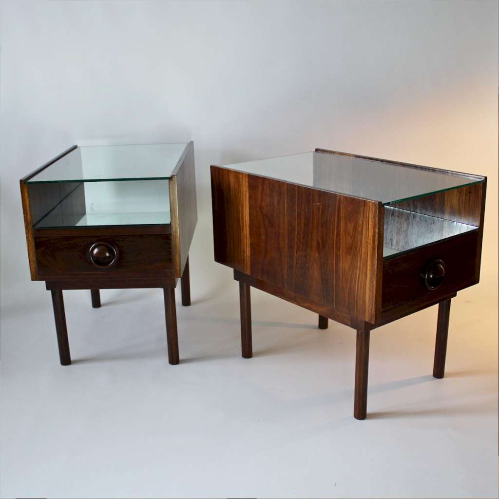 Mid Century pair of bedside tables