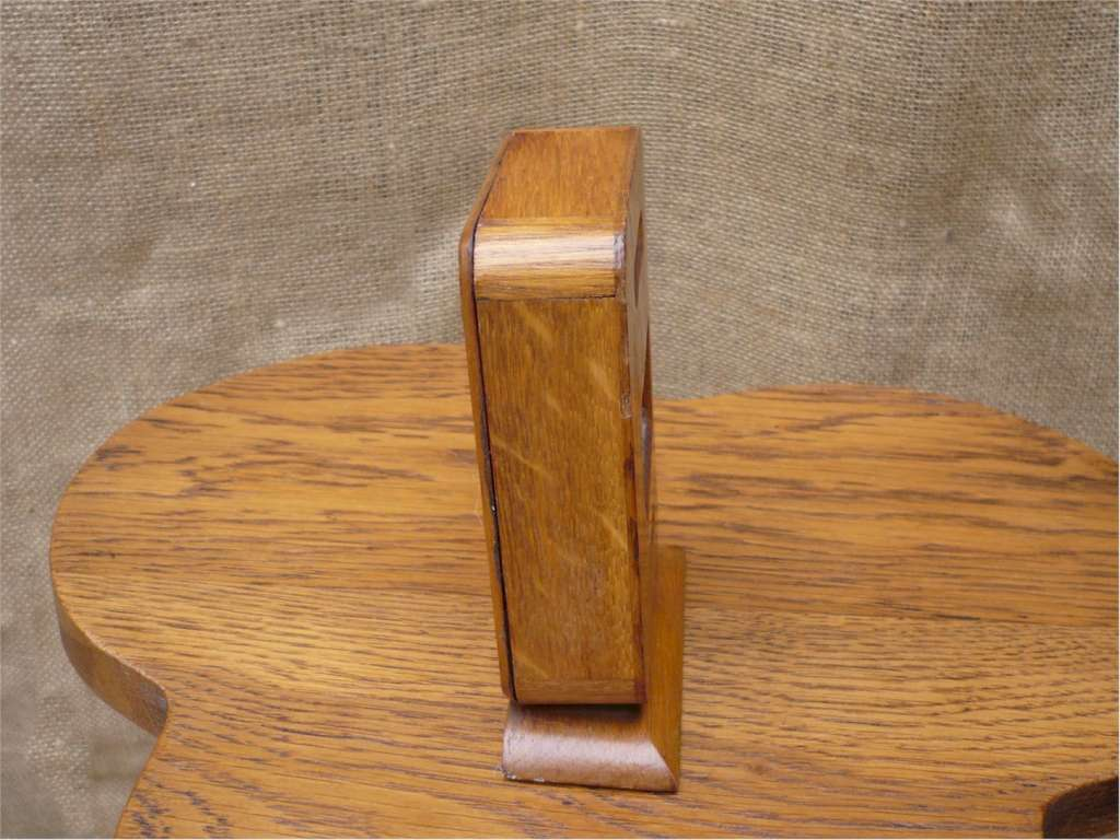 Desk top perpetual calendar in golden oak